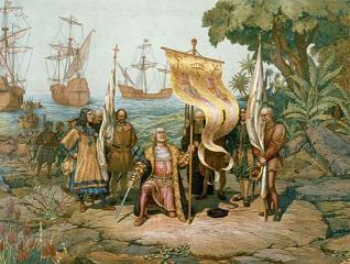 El descubrimiento de Cuba por Colón visto desde una ilustración