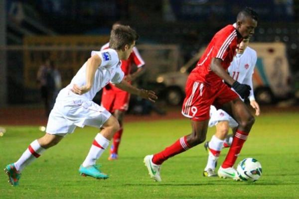 El Equipo de Fútbol Sub-20 de Cuba.