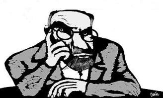 Caricatura de un intelectual