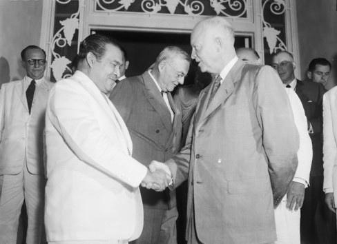 Fulgencio Batista junto a Eisenhower.