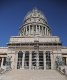 Así luce el Capitolio por estos días. Foto: Oficina del Historiador de la Ciudad
