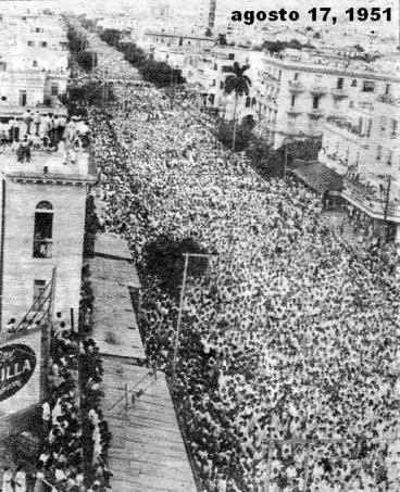 Entierro de Chibás, 17 de agosto de 1951